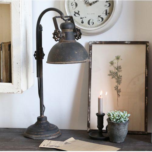 Chic Antique / Stolná lampa Factory Antique Black 53cm