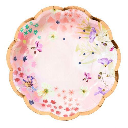 Talking Tables / Papierové tanieriky Blossom Small Plates ⌀17 cm