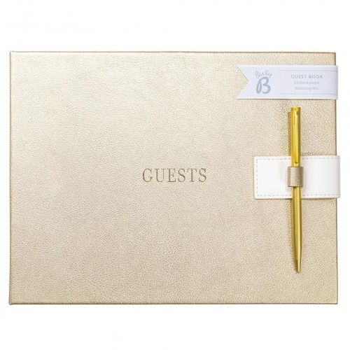 Busy B / Svadobná kniha hostí Gold Faux