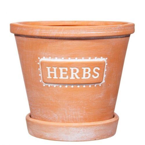 sass & belle / Keramický kvetináč s podmiskou Herbs