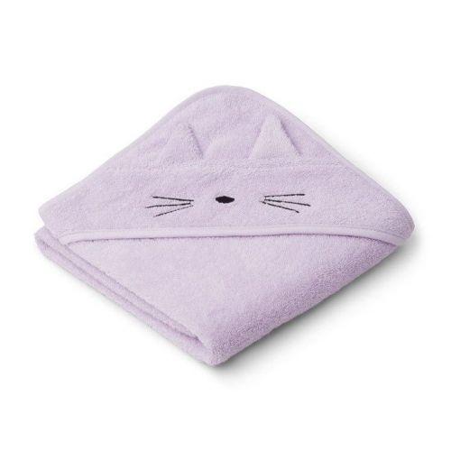 LIEWOOD / Detská osuška s kapucňou Albert Cat Light Lavender