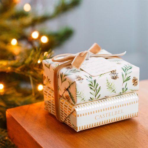 CASTELBEL / Darčeková sada vianočných mydiel Blond wood & Amber