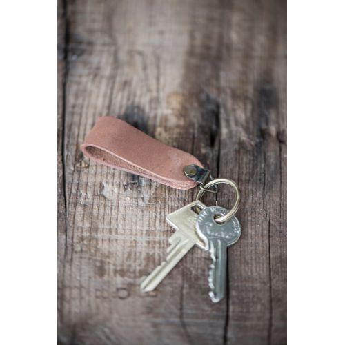 IB LAURSEN / Kožený prívesok na kľúče Brown