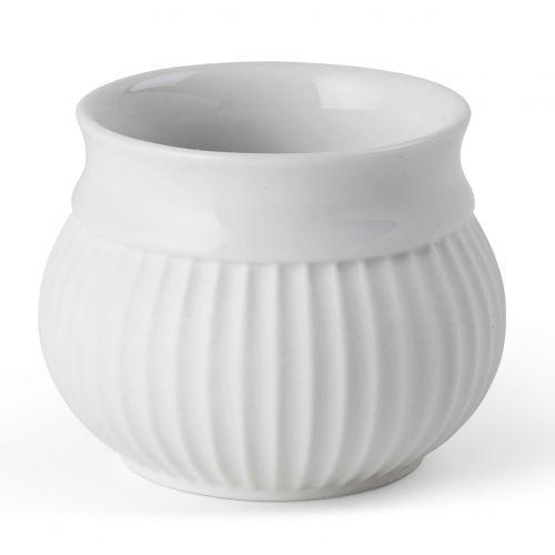 LYNGBY / Porcelánový svietnik na čajovú sviečku Curve White