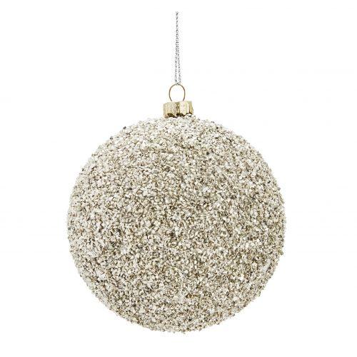 MADAM STOLTZ / Vianočná ozdoba Rocks Silver