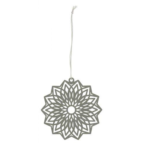 IB LAURSEN / Závesná papierová ozdoba Flower Grey 8 cm
