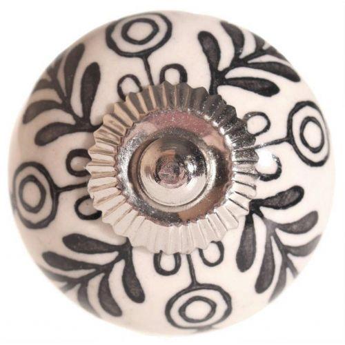 La finesse / Porcelánová úchytka Black Decor