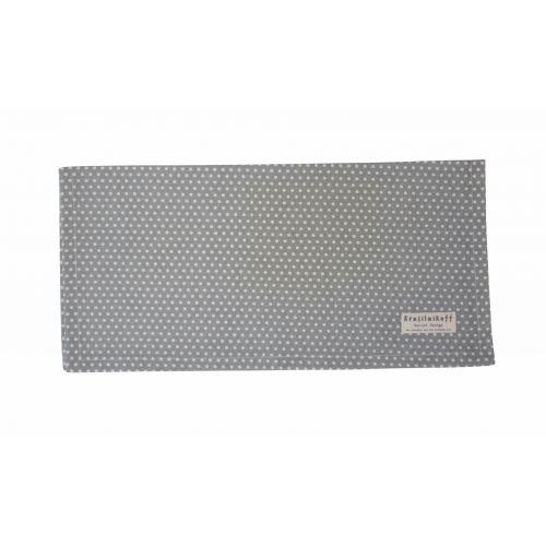 Krasilnikoff / Bavlnený obrúsok Grey White Dots