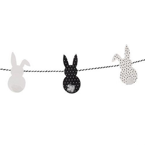 Bloomingville / Velikonoční girlanda se zajíčky Black&White