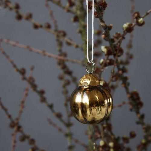House Doctor / Kovová vánoční ozdoba Tiny Gold