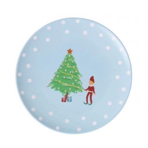 rice / Melamínový vianočný tanierik Xmas Elf