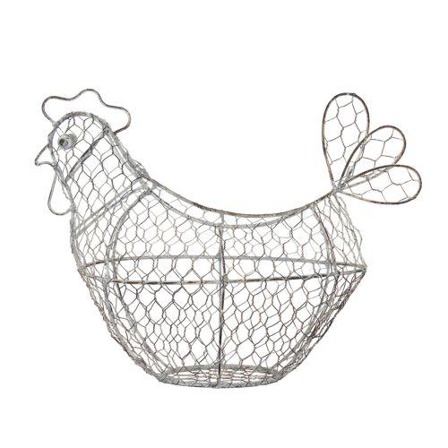Kitchen Craft / Drôtený košík na vajíčka Antique - sliepočka