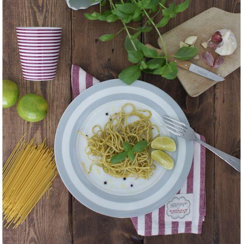Krasilnikoff / Obedový tanier Grey Stripes