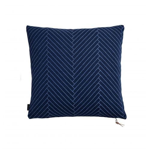 OYOY / Vankúš Herringbone Dark blue 50x50 cm