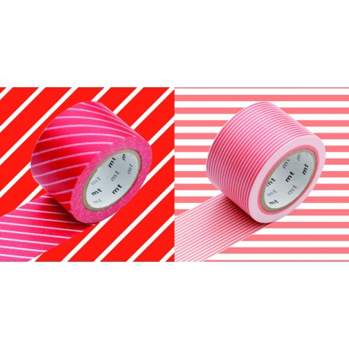 mt / Designové samolepiace pásky red x border sango - set 2 ks