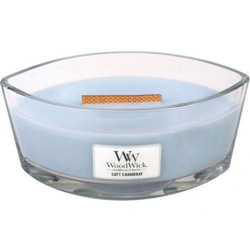 WoodWick / Vonná sviečka WoodWick - Soft Chambray 454 g