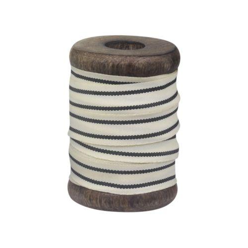 Chic Antique / Bavlnená stuha Black Stripes 5m