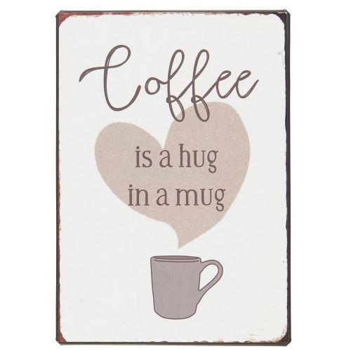 IB LAURSEN / Plechová ceduľa Coffee is a hug in a mug