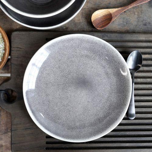 Chic Antique / Keramický tanier Calais Coal Grey Lunch Plate ⌀ 20 cm
