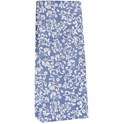 IB LAURSEN / Papierové vrecko Flower pattern Blue M