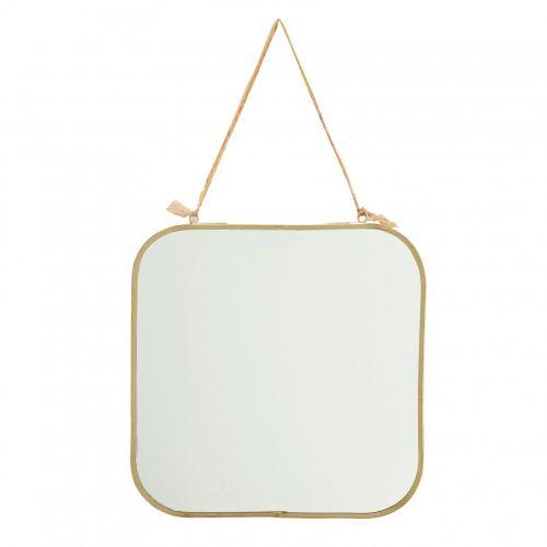 MADAM STOLTZ / Závesné zrkadlo Square Brass