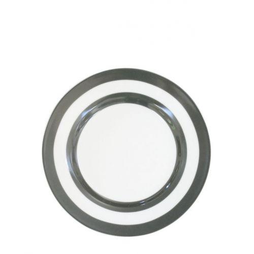 Krasilnikoff / Dezertný tanierik Charcoal Stripes