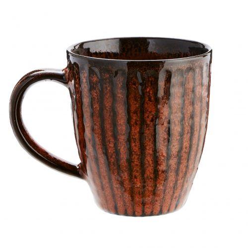 MADAM STOLTZ / Oranžový kameninový hrnček Stoneware