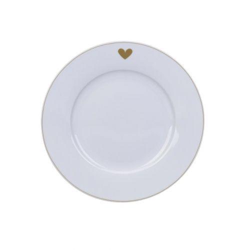 Krasilnikoff / Dezertný tanier Gold Heart