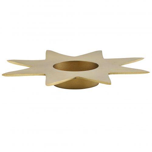 House Doctor / Vianočný svietnik Gold Star 22 cm