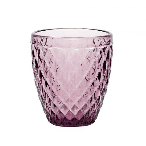 Hübsch / Sklenený svietnik Pattern Purple
