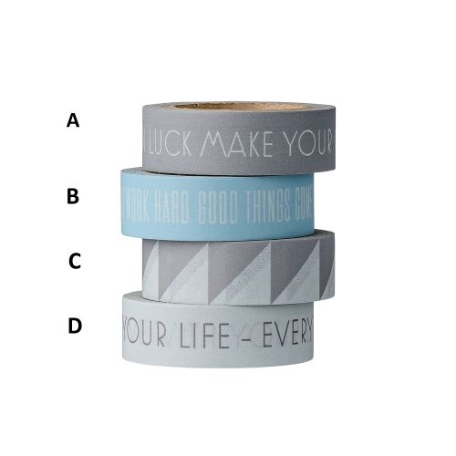 Bloomingville / Dizajnová samolepiaca páska Blue/Grey