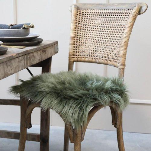 Chic Antique / Sedák z umělé kožešiny Moss 40×40 cm