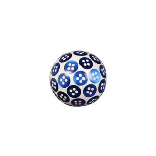 La finesse / Drevená úchytka Button Blue