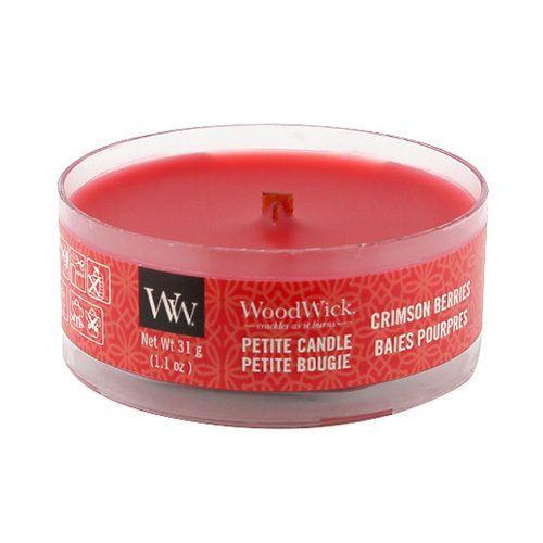 WoodWick / Vonná sviečka WoodWick Petite - Crimson Berries 31g