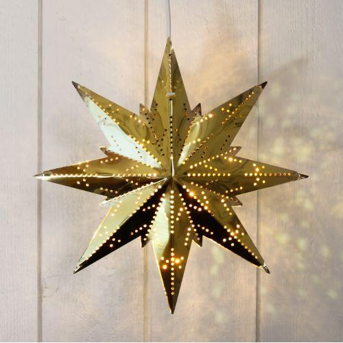 STAR TRADING / Plechová svietiaca hviezda Brass