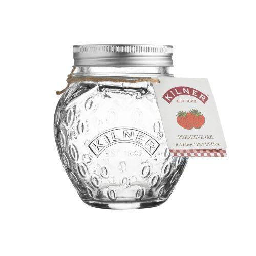 KILNER / Pohár na marmeládu Strawberry 0,4 l