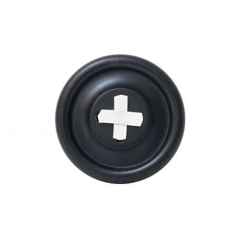 HK living / Dřevěný věšák Button Black/White 18 cm