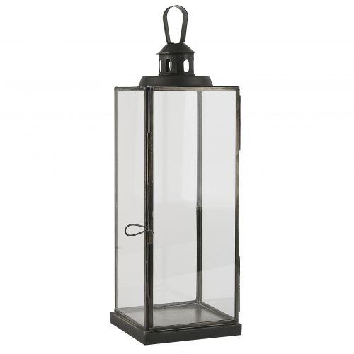 IB LAURSEN / Sklenený lampáš Flat roof Black