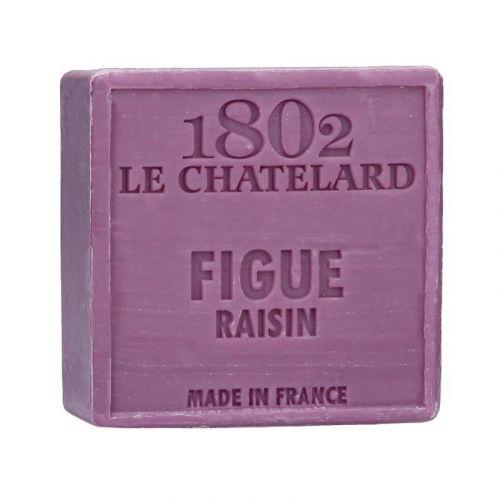 LE CHATELARD / Marseillské mydlo 100 g štvorec - figa a hrozno