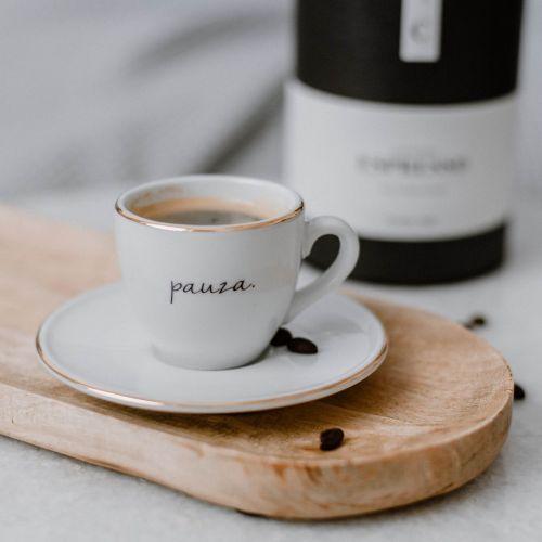 Bella Rose / Šálka na espresso s podšálkou Pauza