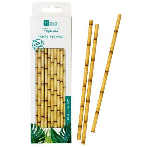 Talking Tables / Papierové slamky Fiesta Bamboo Paper Straws 30 ks
