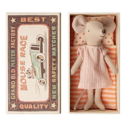 Maileg / Myška v krabičke od zápaliek Big sister