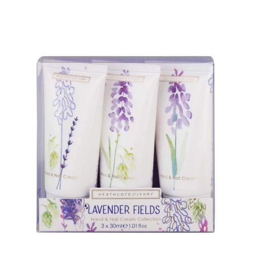 HEATHCOTE & IVORY / Sada krémov na ruky Lavender Fields - Set 3 ks