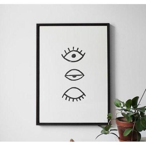 Fine Little Day / Autorský plagát Eye Eye Black 50x70cm