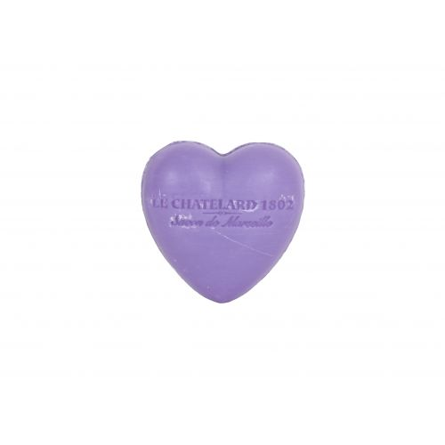 LE CHATELARD / Francúzske mydlo Heart - Fialka a černice 25gr