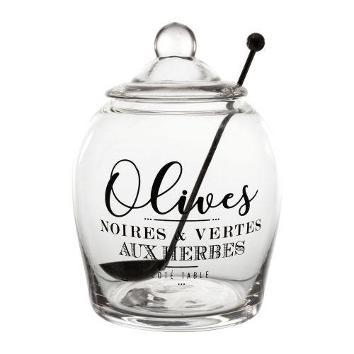CÔTÉ TABLE / Sklenená dóza na olivy Olive