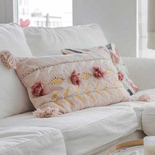 MADAM STOLTZ / Bavlnená obliečka na vankúš Embroidered Powder 40x60