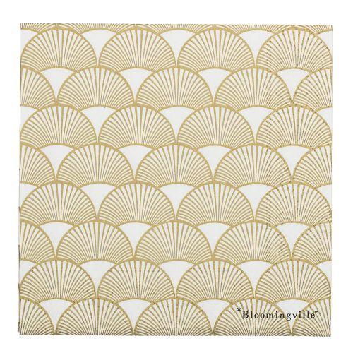 Bloomingville / Papierové obrúsky Gold Paper