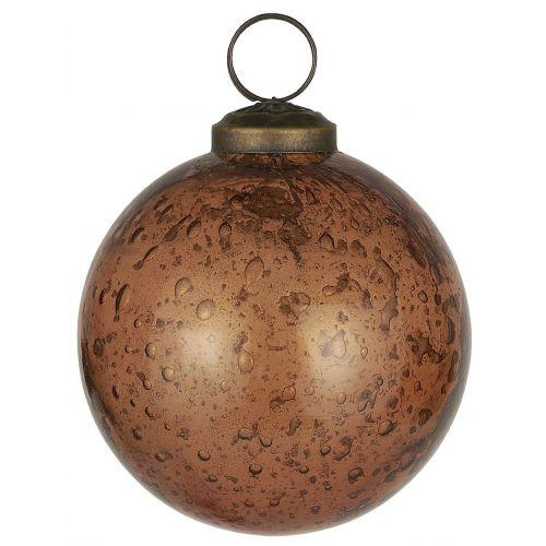 IB LAURSEN / Vianočná ozdoba Pebbled Glass Amber 8cm