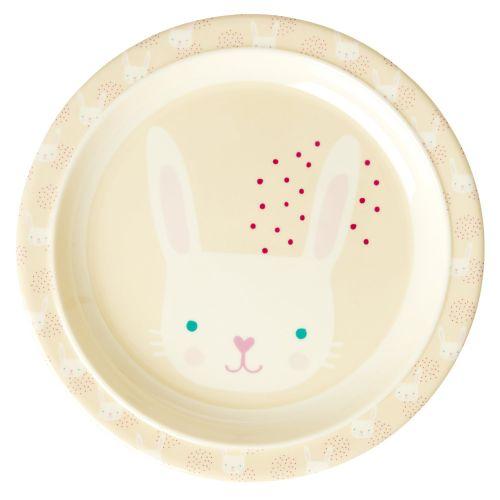 rice / Detský melamínový tanier Rabbit